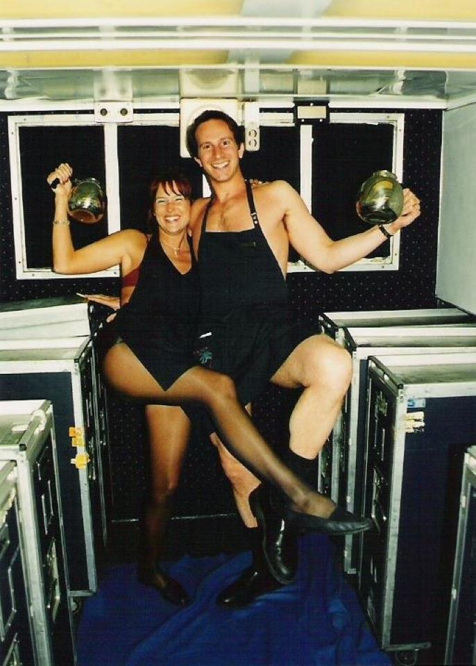 ATA Airlines; Fun in the L-1011 galley