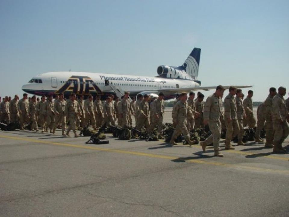 ATA Airlines; Transporting troops