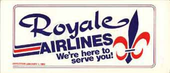 Royale Airlines timetable
